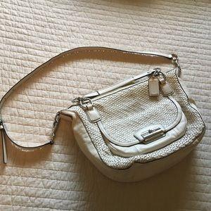 Coach lattice cream bag